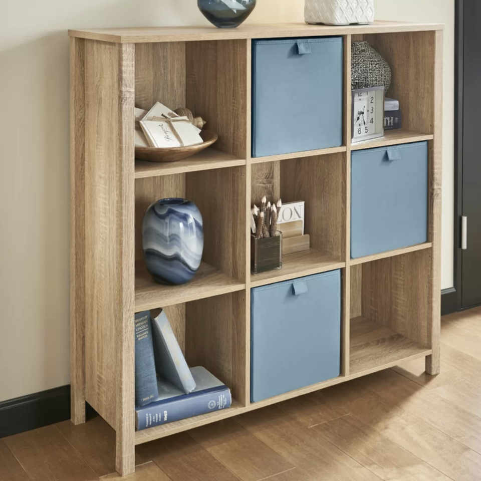 The bookcase is available in three natural finishes. (Photo: Wayfair)