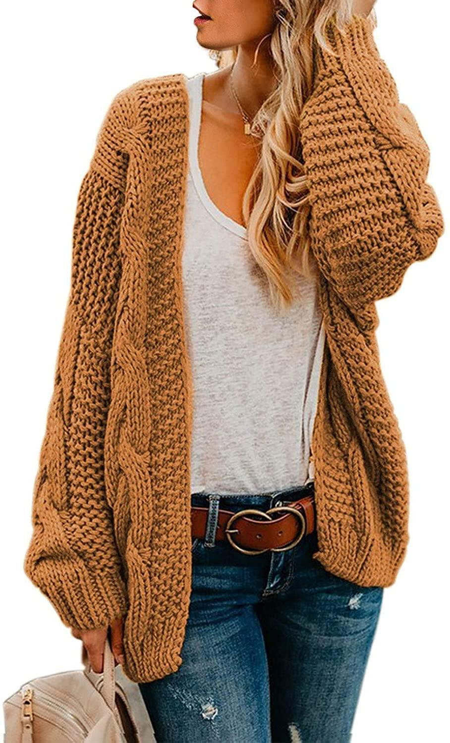 <p>This <span>Astylish Open Front Long Sleeve Chunky Knit Cardigan</span> ($4-$36) comes in so many colors.</p>