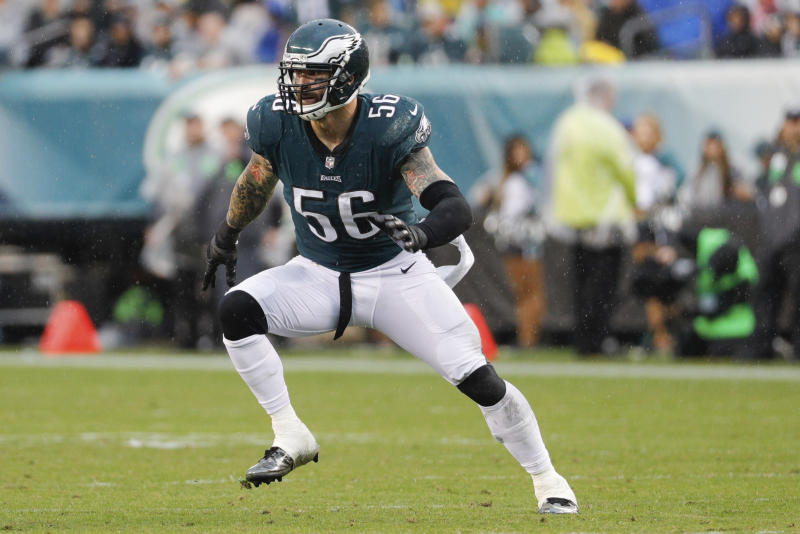 Philadelphia Eagles defensive end Chris Long was praised by Barack Obama for his charitable acts. (AP)