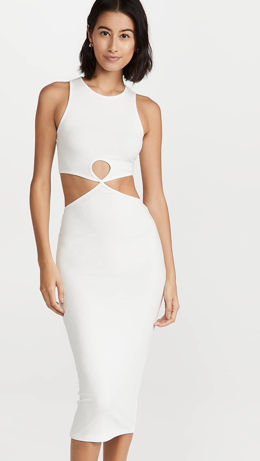 <p>The cutout dress is still having a moment, and this <span>Lioness Mariana Midi Dress</span> ($79) is a slinky way to tap into the trend. The subtle skin reveals and fitted silhouette dial up the heat.</p>