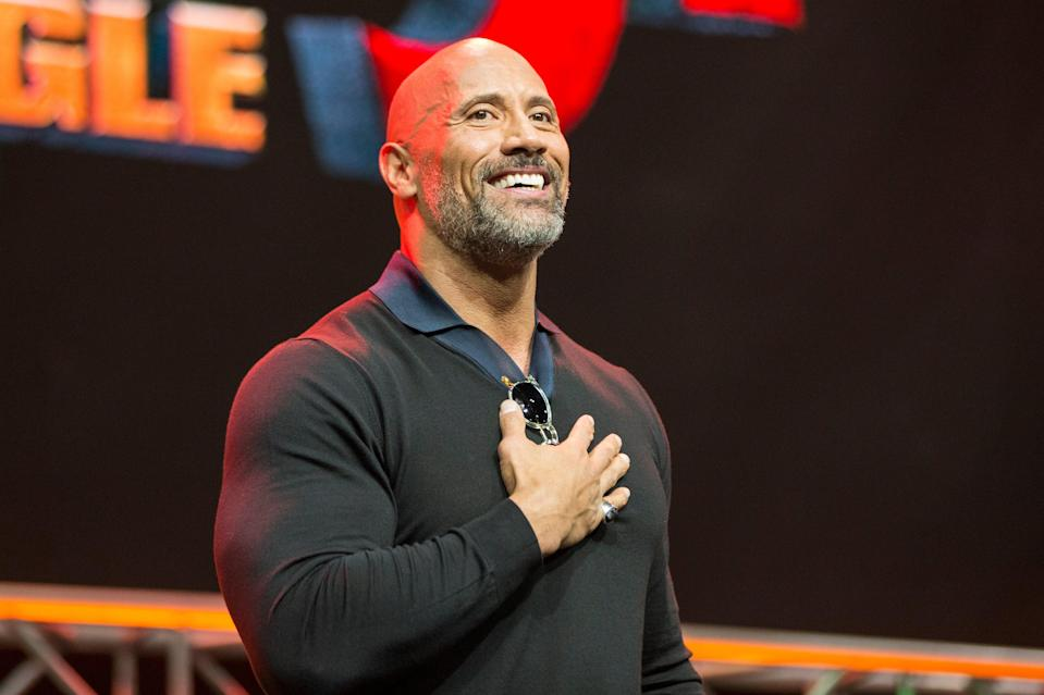 <p>El actor Dwayne Johnson en el escenario de ENTERTAINMENT WEEKLY presenta Dwayne