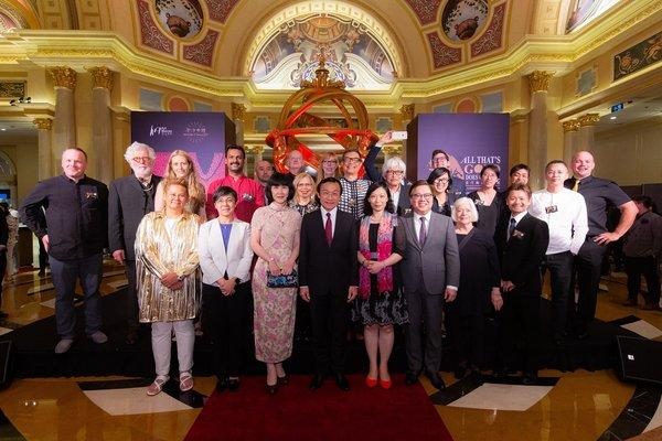 Guests of honour join more than 20 world-class ceramic artists from Sands China's All That's Gold Does Glitter - An Exhibition of Glamorous Ceramics for its opening ceremony Saturday at The Venetian Macao.