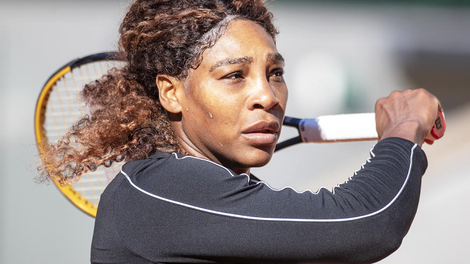 Serena Williams, pictured here at Roland Garros ahead of the French Open.