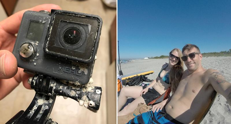 Jeffrey Heim takes to Twitter to reunite GoPro with owner after finding it in ocean.