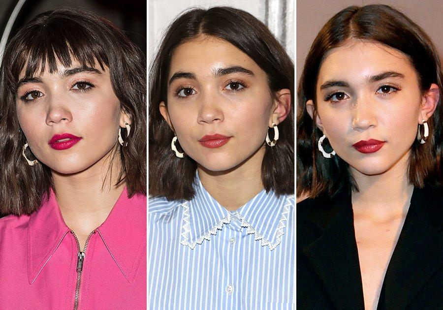"Rowan Blanchard knows the important fashion fact that <a href=""https://www.alisonlou.com/collections/earring/products/petite-v-hoops-black-white"">statement hoops</a> always go with everything.   <b>Look for Less:</b> Rosantica ""Destino"" gold-tone crystal hoop earrings, $185; <a href=""https://click.linksynergy.com/fs-bin/click?id=93xLBvPhAeE&subid=0&offerid=531417.1&type=10&tmpid=6894&RD_PARM1=https%3A%2F%2Fwww.net-a-porter.com%2Fus%2Fen%2Fproduct%2F993879&u1=POFASIRLMCAKMar18"">net-a-porter.com</a>"