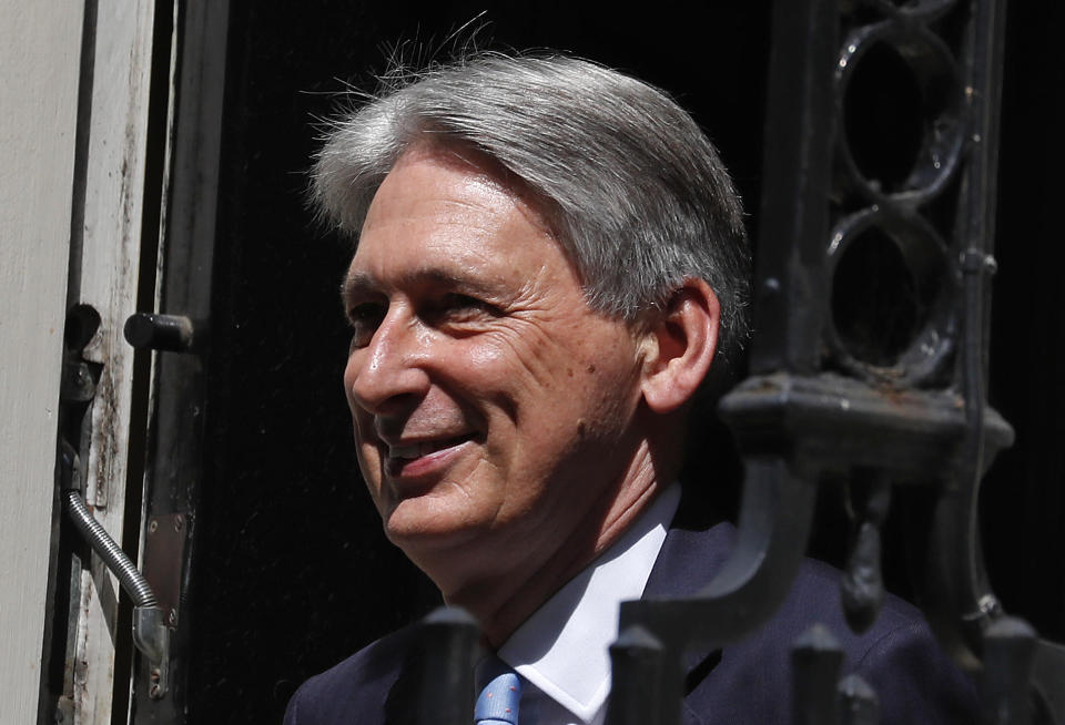 Britain's former chancellor of the exchequer Philip Hammon signed on as an adviser to OakNorth last January. Photo: Frank Augstein/AP