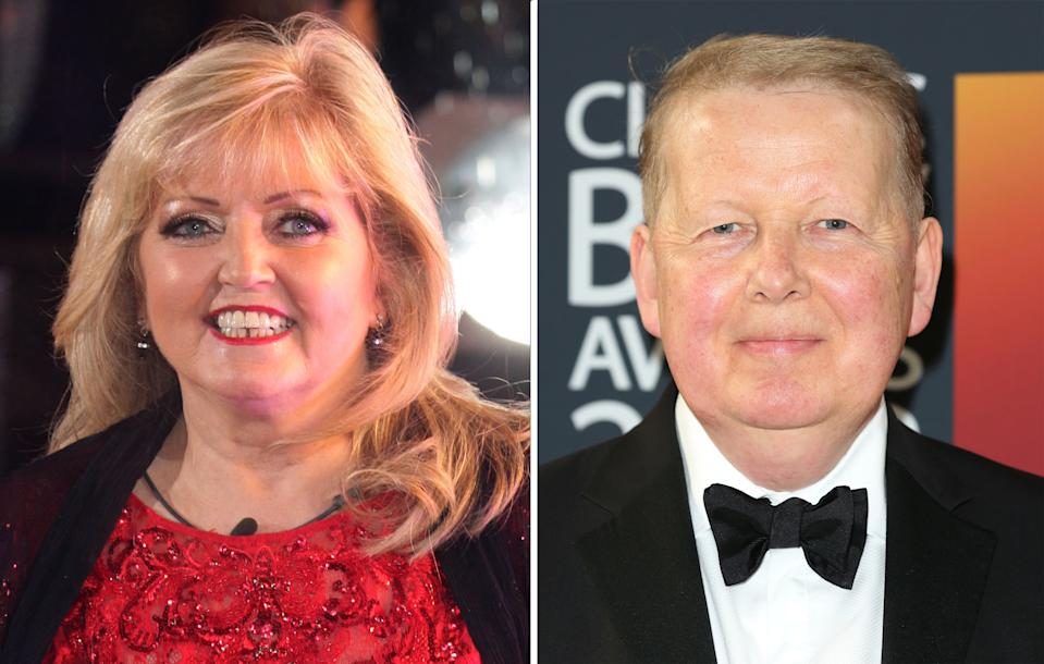 Linda Nolan and Bill Turnbull who are among the celebrities with cancer who have joined NHS doctors in urging the public to come forward for important checks.
