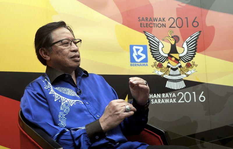 Chief Minister Datuk Patinggi Abang Johari Openg today said the people's interests and rights will not be protected if 'other people' take over the state government in the coming Sarawak state election. ― Bernama pic