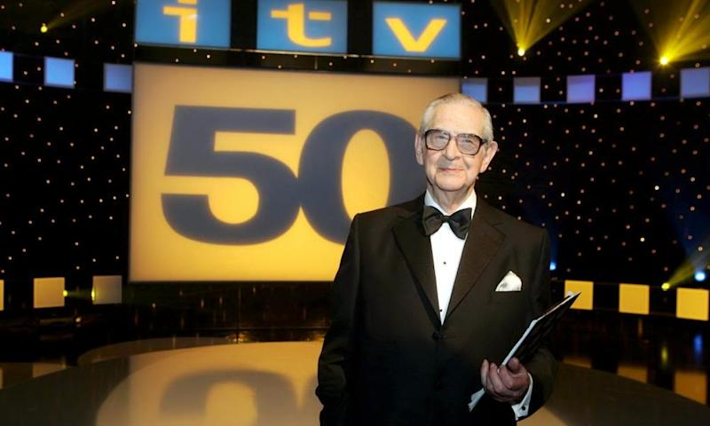 Denis Norden presenting It'll Be Alright on the Night's 50 Years of ITV in 2005.