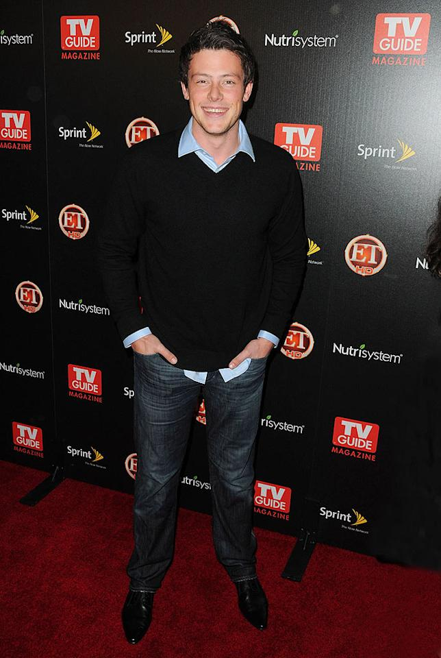 """But Lambert, whose new album drops in two weeks, wasn't the only partygoer who got famous singing on a Fox TV hit -- """"Glee's"""" Cory Monteith was there too. Jordan Strauss/<a href=""""http://www.wireimage.com"""" target=""""new"""">WireImage.com</a> - November 10, 2009"""
