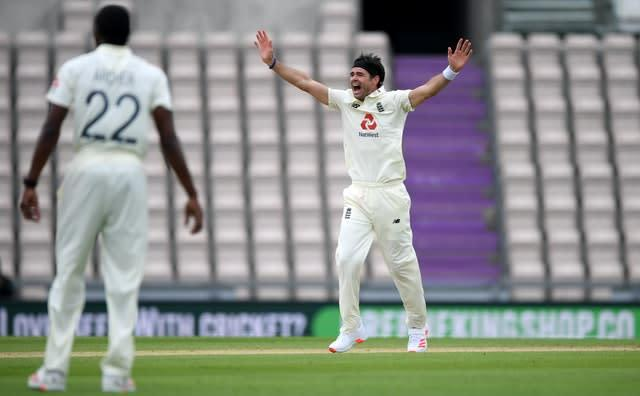 James Anderson was recalled to the England Test side (Mike Hewitt/NMC Pool/PA)