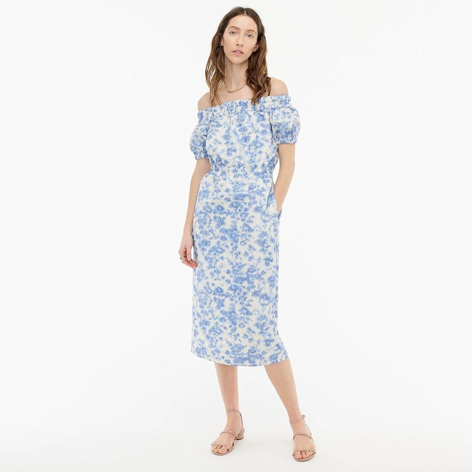 <p>Don't underestimate how this <span>Off-the-shoulder Dress</span> ($260, originally $375 (plus extra 60% off with code SALETIME) can cheer you up. From the floral print to the off-shoulder silhouette, it looks playful, fresh and uplifting.</p>