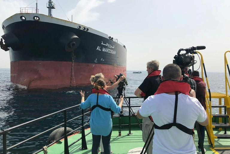 Saudi Arabia said two of its oil tankers, including the Al-Marzoqah pictured here, suffered significant damage in sabotage attacks