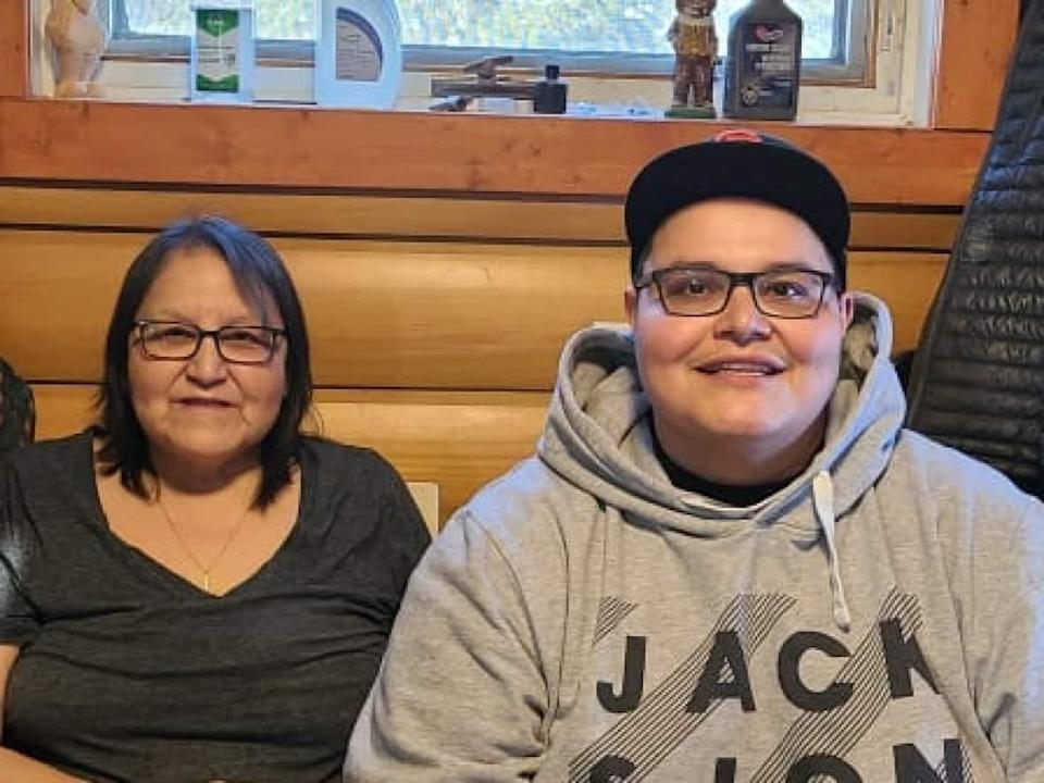 Stand-up comedian Paul Rabliauskas, pictured here with his mom, will start filming a new CTV comedy series based on his life in Poplar River First Nation. (Whitney Bittern - image credit)
