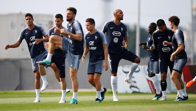 Soccer Football - World Cup - France Training - France Training Camp, Moscow, Russia - June 23, 2018 France players during training REUTERS/Axel Schmidt