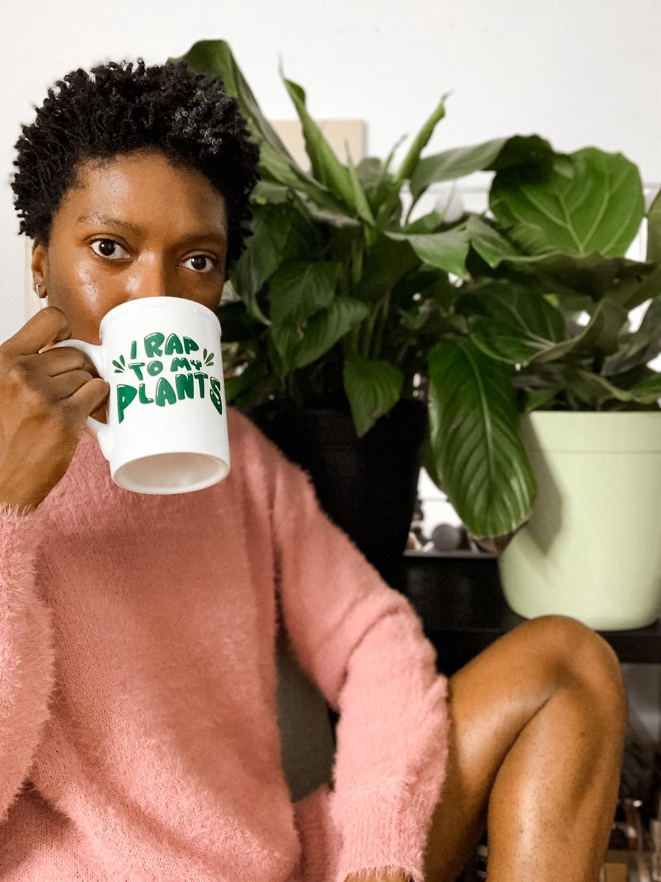 Dana Oliver is indulging her green thumb thanks to inspiration from #BlackGirlsWhoGarden. (Photo: Dana Oliver)