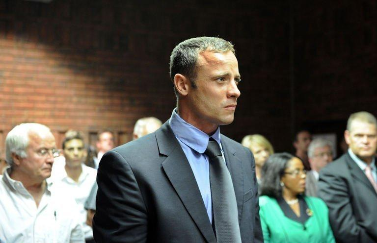 South African Olympic sprinter Oscar Pistorius appears in court on February 19, 2013 in Pretoria
