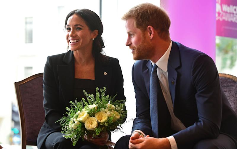 Video shows Prince Harry's sweet PDA with Meghan Markle