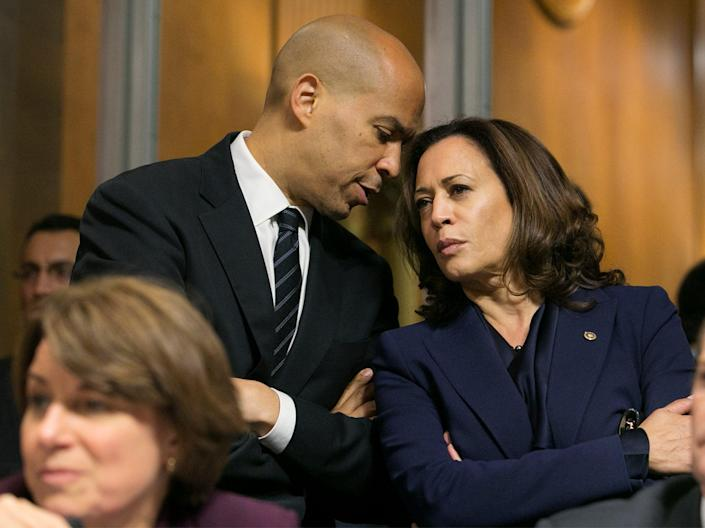 Amy Klobuchar, Cory Booker and Kamala HarrisEPA-EFE