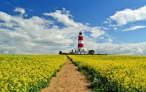 """<p>For a <a href=""""https://www.countryliving.com/uk/travel-ideas/staycation-uk/a29510524/uk-holiday-destinations/"""" rel=""""nofollow noopener"""" target=""""_blank"""" data-ylk=""""slk:UK break"""" class=""""link rapid-noclick-resp"""">UK break</a> that takes in quintessential English countryside, iconic windmills and antique pubs, look no further than Norfolk, where you can experience a thoroughly British escape. </p><p><a href=""""https://www.countrylivingholidays.com/tours/norfolk-delia-smith"""" rel=""""nofollow noopener"""" target=""""_blank"""" data-ylk=""""slk:Norfolk holidays"""" class=""""link rapid-noclick-resp"""">Norfolk holidays</a> offer all the rest and relaxation you require thanks to the golden fields, tranquil waterways and miles of beaches with pretty lighthouses. One of the must-sees in all the region is the Norfolk Broads National Park, comprised of 40 water-filled broads, which you can explore by boat cruising down the River Bure on a traditional Mississippi paddle steamer.</p><p><a class=""""link rapid-noclick-resp"""" href=""""https://www.countrylivingholidays.com/tours/norfolk-delia-smith"""" rel=""""nofollow noopener"""" target=""""_blank"""" data-ylk=""""slk:VISIT NORFOLK WITH DELIA SMITH"""">VISIT NORFOLK WITH DELIA SMITH</a></p><p>Culture is also never far away, with delightful market towns and villages lining the shores. <a href=""""https://www.countrylivingholidays.com/search?locations%5Bsearch%5D=Norfolk%2C+UK&locations%5Bgeo%5D=52.355367%2C0.153555%2C52.992704%2C1.745461"""" rel=""""nofollow noopener"""" target=""""_blank"""" data-ylk=""""slk:Norfolk"""" class=""""link rapid-noclick-resp"""">Norfolk</a> boasts a number of historic estates, such as Blickling Hall, Holkham Hall and Sandringham Estate, where the Queen often spends her private weekends away.<strong><br></strong></p><p>On Country Living's <a href=""""https://www.countrylivingholidays.com/tours/norfolk-delia-smith"""" rel=""""nofollow noopener"""" target=""""_blank"""" data-ylk=""""slk:exclusive tour of Norfolk"""" class=""""link rapid-noclick-resp"""">exclusive tour of Norfolk</a> with the legendary Delia Smith in """