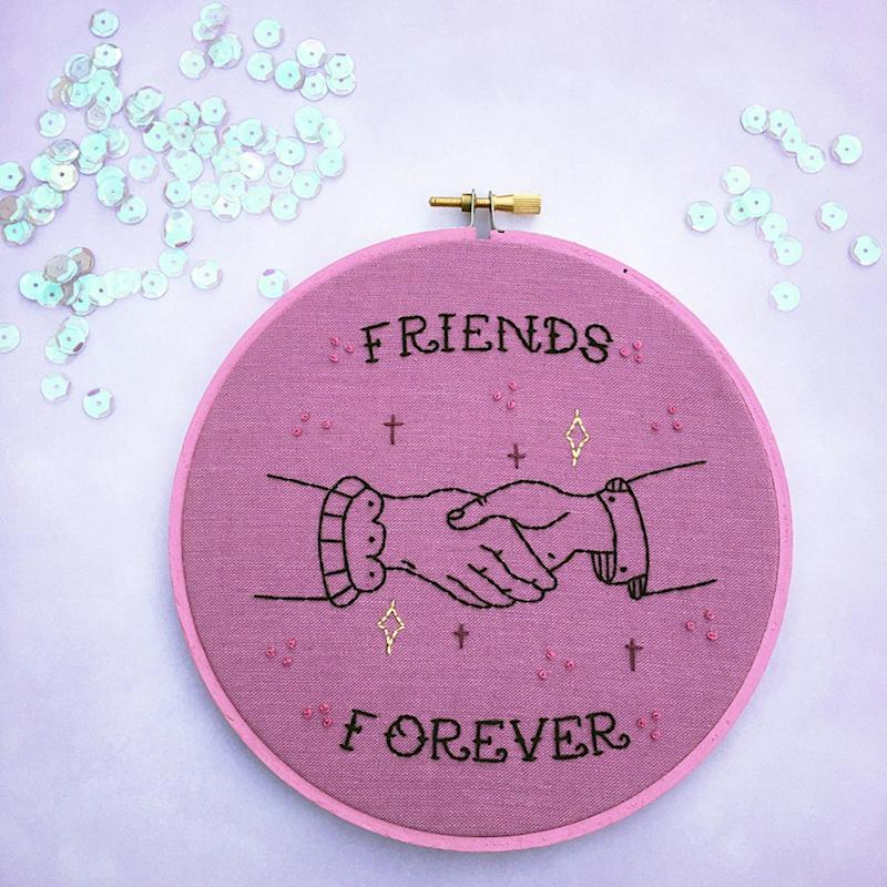 19 Cute and Clever Embroidery Hoops Perfect For Your BFF