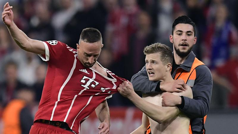 Invasão Ribery Real Madrid Bayern Champions League 25 04 2018