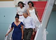 <p>We would be beside ourselves to catch a ride on Air Force One —but, of course, we're not the daughters of the President. In 2016, Malia and Sasha Obama made their way down the steps of the aircraft for a vacation in Martha's Vineyard as if it were no big thing.</p>