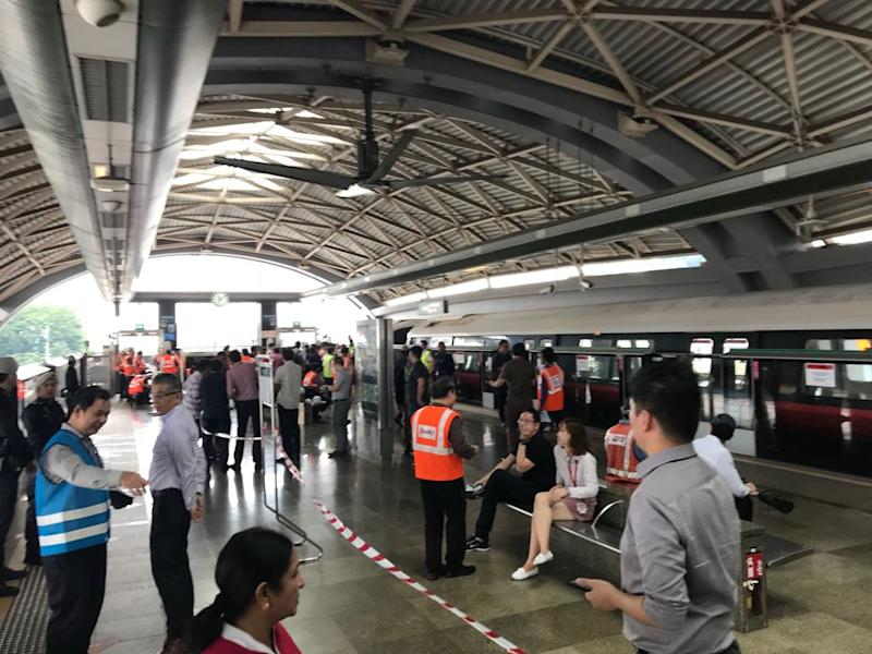Joo Koon MRT Station after train collision