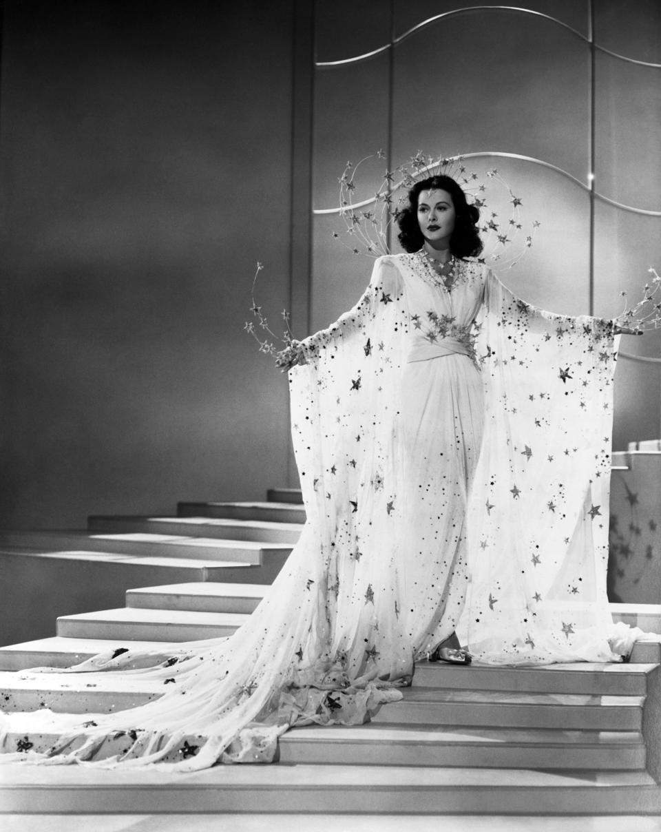 Actoress Hedy Lamarr in a scene from the movie