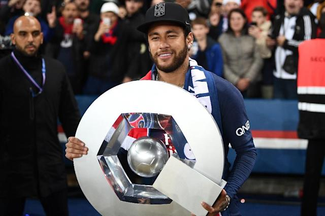 Despite winning his second French title in a row Neymar's season was marred by events on and off the field (AFP Photo/FRANCK FIFE)