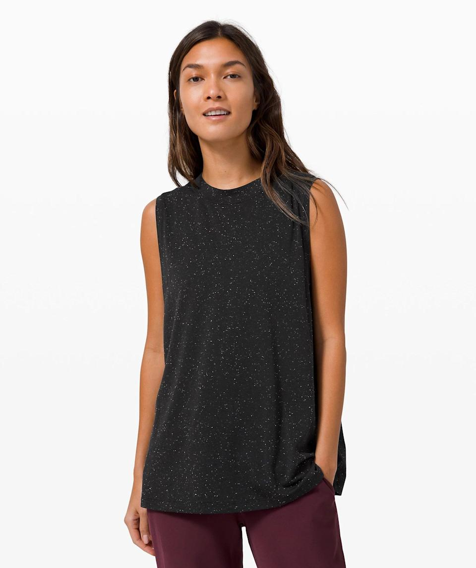 "<p>This breathable <a href=""https://www.popsugar.com/buy/Lululemon-All-Yours-Boyfriend-Tank-582444?p_name=Lululemon%20All%20Yours%20Boyfriend%20Tank&retailer=shop.lululemon.com&pid=582444&price=44&evar1=fit%3Auk&evar9=46472938&evar98=https%3A%2F%2Fwww.popsugar.com%2Ffitness%2Fphoto-gallery%2F46472938%2Fimage%2F47590560%2FLululemon-All-Yours-Boyfriend-Tank&list1=shopping%2Cworkout%20clothes%2Cfitness%20gear%2Cproducts%20under%20%2450%2C50%20under%20%2450%2Cfitness%20shopping%2Caffordable%20shopping&prop13=api&pdata=1"" class=""link rapid-noclick-resp"" rel=""nofollow noopener"" target=""_blank"" data-ylk=""slk:Lululemon All Yours Boyfriend Tank"">Lululemon All Yours Boyfriend Tank</a> ($44-$48) is a must have.</p>"