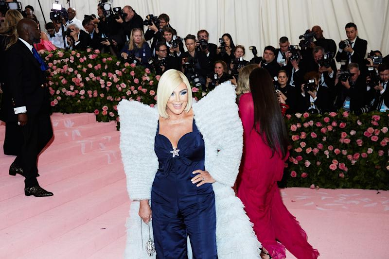 Kris Jenner on the red carpet at the Met Gala in New York City on Monday, May 6th, 2019. Photograph by Amy Lombard for W Magazine.