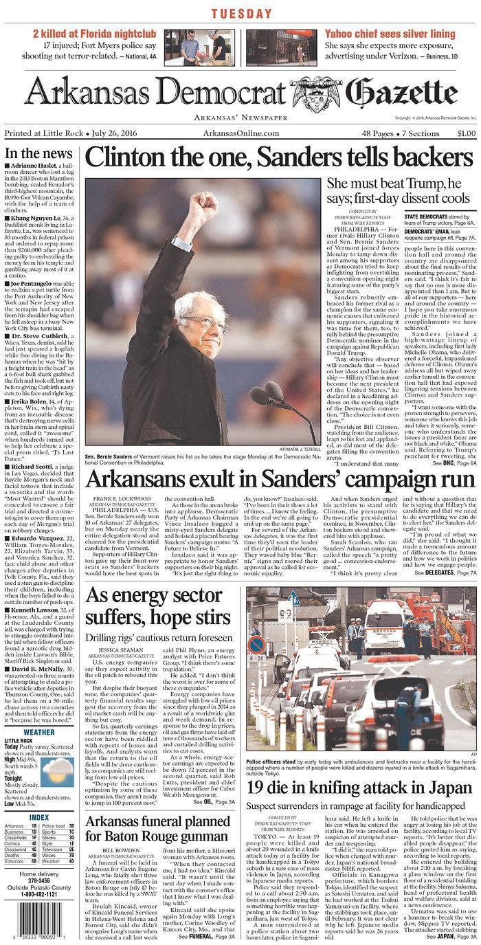 <p>Published in Little Rock, Ark. USA. (newseum.org)</p>