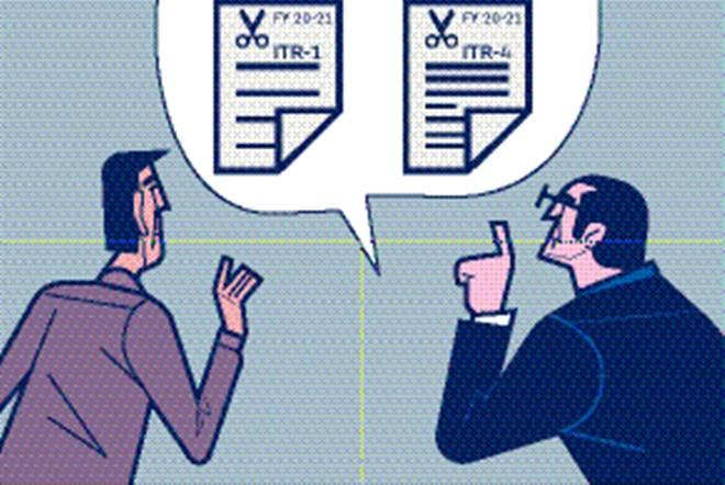 These two types of ITR forms are supposedly most simple forms, requiring minimal details from individuals having limited total income or carrying out small business/ profession. (Illustration: Shyam Kumar Prasad)