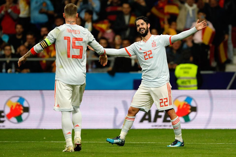 Isco scored three goals in Spain's 6-1 rout of Argentina. (Getty)