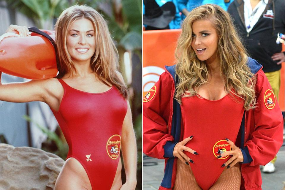 """<p>The actress sported a red one-piece swimsuit akin to her <em>Baywatch </em>days in an appearance at NBC's <a href=""""https://people.com/tag/today/"""" rel=""""nofollow noopener"""" target=""""_blank"""" data-ylk=""""slk:Today show"""" class=""""link rapid-noclick-resp""""><em>Today</em> show</a> Halloween festivities.</p>"""