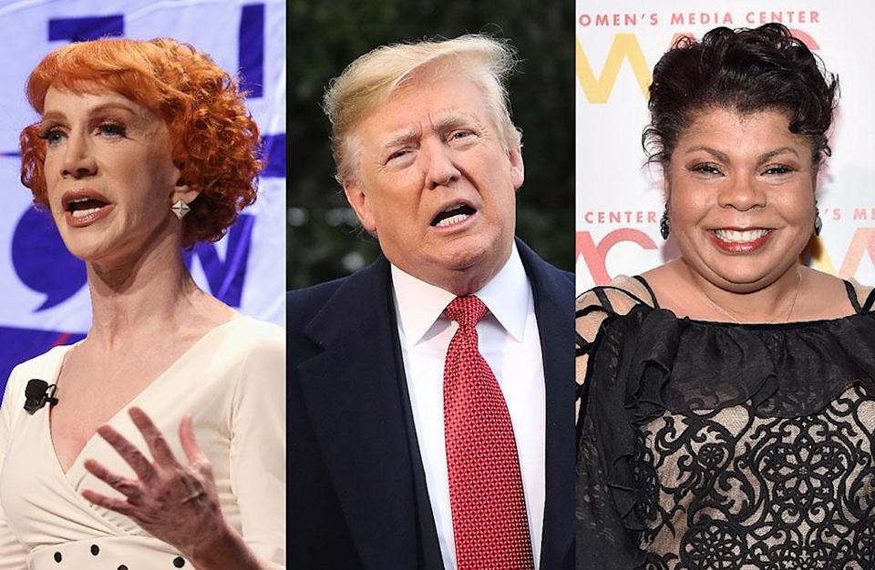 Kathy Griffin, President Trump, April Ryan. (Photos: Getty Images)