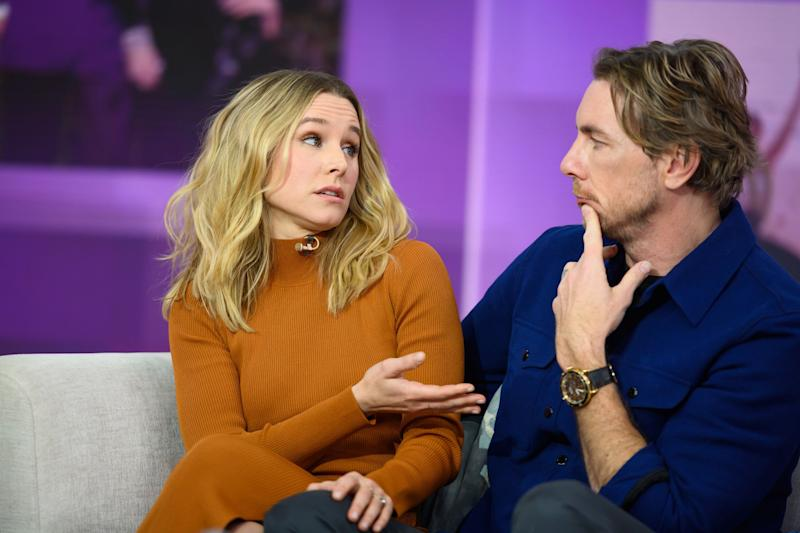 """Kristen Bell and Dax Shepard on """"Today"""" in February. (Photo: NBC via Getty Images)"""