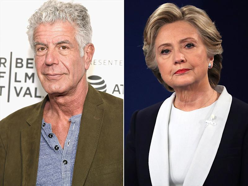 Anthony Bourdain Slams Hillary Clinton's Interview About Harvey Weinstein Calling It 'Shameful' and 'Disingenuous'