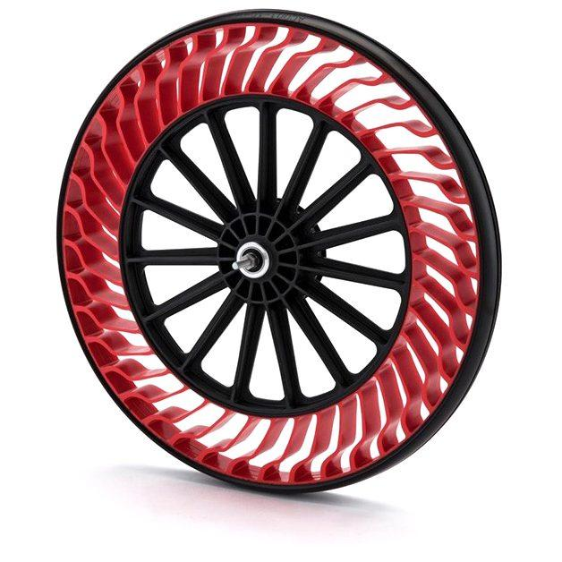 Airless bike tyre  - Credit: Bridgestone