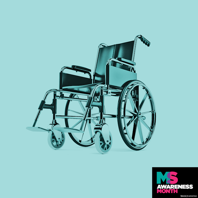 An MS diagnosis doesn't automatically mean you are destined for a wheelchair, since the disease affects everyone differently. (Photo: Getty Images. Design: Quinn Lemmers for Yahoo Lifestyle)
