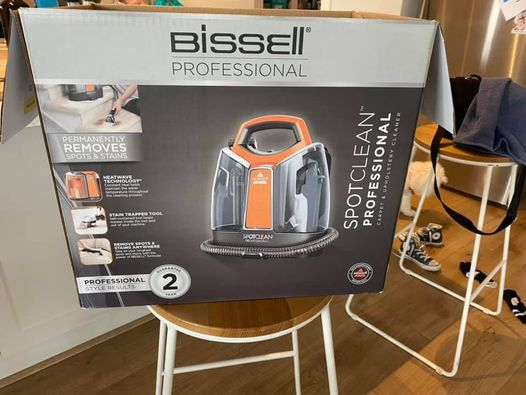 $250 Bissel SpotClean professional Carpet and Upholstery Cleaner couch transformation