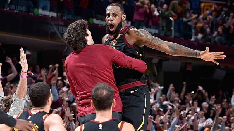 LeBron James hits game-winning shot as buzzer sounds