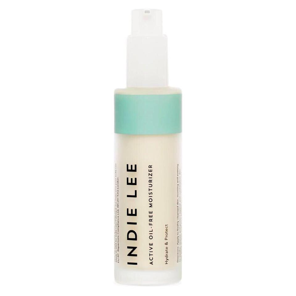 """<p>Formulated to encourage balance, Indie Lee Active Oil-Free Moisturizer leaves out potentially pore-clogging oils and instead includes moisturizing ingredients like glycerin and rosewater. Its botanical extracts like that of mandarin and daisy also provide an antioxidant-rich dose of <a href=""""https://www.allure.com/story/vitamin-c-benefits-for-skin?mbid=synd_yahoo_rss"""" rel=""""nofollow noopener"""" target=""""_blank"""" data-ylk=""""slk:vitamin C"""" class=""""link rapid-noclick-resp"""">vitamin C</a>.</p> <p><strong>$60</strong> (<a href=""""https://shop-links.co/1706974691826212030"""" rel=""""nofollow noopener"""" target=""""_blank"""" data-ylk=""""slk:Shop Now"""" class=""""link rapid-noclick-resp"""">Shop Now</a>)</p>"""