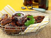 """<p>You don't have to find a chicken wing joint to enjoy new, creative flavors. Add grilled and puréed plums to a mixture of hoisin sauce, vinegar, soy sauce, ginger, scallions and pepper for a different kind of wing sauce.</p> <p><a href=""""https://www.thedailymeal.com/best-recipes/grilled-chicken-wings-ginger-plum-sauce?referrer=yahoo&category=beauty_food&include_utm=1&utm_medium=referral&utm_source=yahoo&utm_campaign=feed"""" rel=""""nofollow noopener"""" target=""""_blank"""" data-ylk=""""slk:For the Chicken Wings With Grilled Ginger Plum Coulis recipe, click here."""" class=""""link rapid-noclick-resp"""">For the Chicken Wings With Grilled Ginger Plum Coulis recipe, click here.</a></p>"""