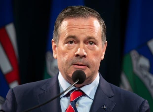 CBC News understands from sources with knowledge of the meeting that government MLAs introduced a motion challenging Alberta Premier Jason Kenney's leadership at some point in Wednesday's meeting, but later withdrew it. (Todd Korol/The Canadian Press - image credit)
