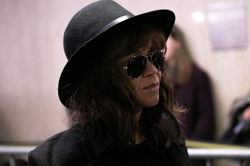 Rosie Perez arrives for the continuation of Harvey Weinstein's trial on 24 January 2020 in New York City: Jeenah Moon/Getty Images