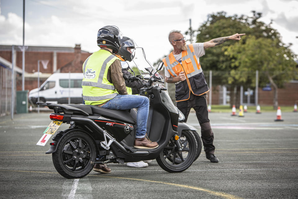 Electric motorcycle training