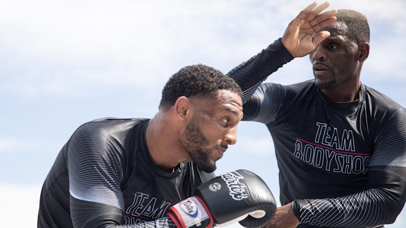 (L-R) AJ and Antonio McKee will make history as the second father-son duo to fight on the same MMA card Saturday at Bellator 228 in Inglewood, California. (Photo courtesy Bellator)