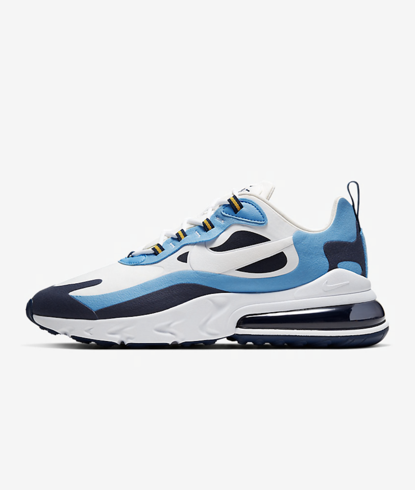 """<p><strong>nike</strong></p><p>nike.com</p><p><a href=""""https://go.redirectingat.com?id=74968X1596630&url=https%3A%2F%2Fwww.nike.com%2Ft%2Fair-max-270-react-mens-shoe-zPRv3k&sref=https%3A%2F%2Fwww.menshealth.com%2Fstyle%2Fg31918124%2Fnike-sneaker-sale-mens-deals-25-percent-off%2F"""" target=""""_blank"""">BUY IT HERE</a></p><p><del>$160.00</del><strong><br>$92.98</strong></p><p>Nothing goes with an athleisure-y work-from-home outfit quite like a fresh sneaker, and there's no sneaker quite as fresh as an Air Max 270. Wear them with joggers and high white socks for a real '80s vibe.</p>"""